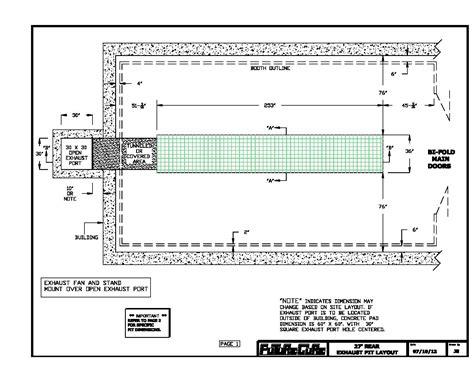 pit dimensions vehicle inspection pit dimensions vehicle ideas