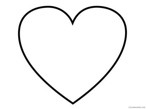 Heart Coloring Pages Printable Coloring4free