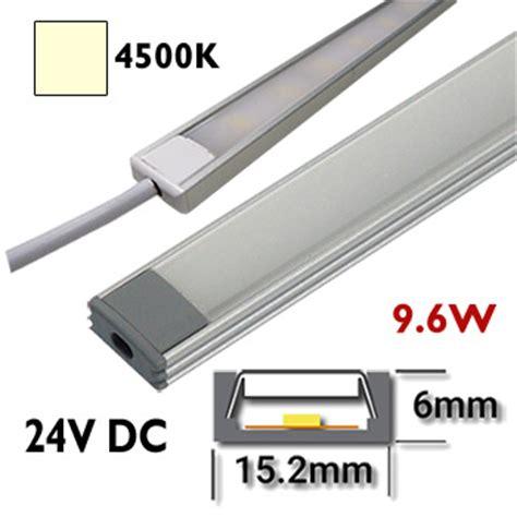 barre led cuisine réglette led 50 cm rigide 24vdc barre eclairage aluminium cuisine placard en lumière naturelle