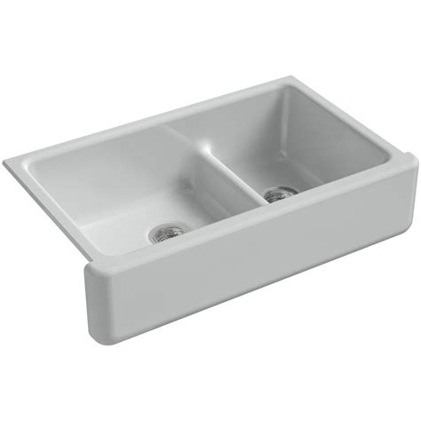 kohler whitehaven sink home depot kohler whitehaven smart divide undermount farmhouse apron