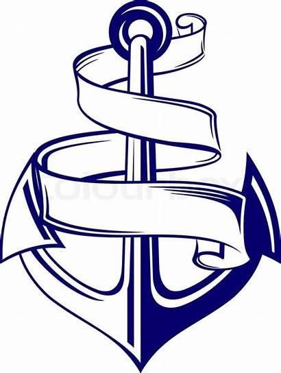 Banner Anker Anchor Vektor Ribbon Symbol Clipart