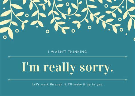 customize  apology card templates  canva