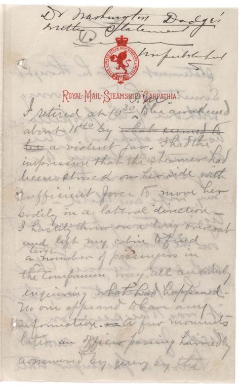Sinking Of The Uss Maine Primary Sources by Eyewitness Account Of The Sinking Of The Titanic 1912
