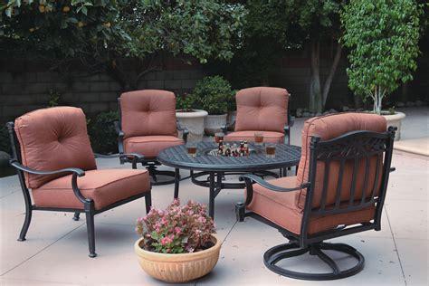 patio furniture seating chat cast aluminum