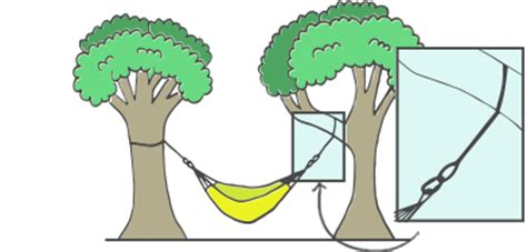 How To Hang A Hammock Between Trees by How To Hang A Hammock Hanging Indoors Outside With