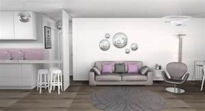 Salon Gris Et Rose : daco salle manger gris et 2017 avec deco salon gris et ~ Melissatoandfro.com Idées de Décoration