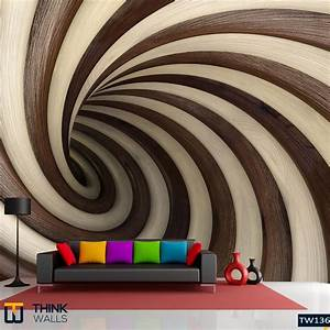 Abstract wood twisted tunnel