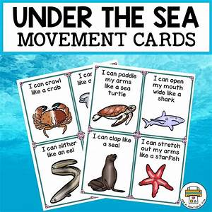 Under The Sea Movement Cards