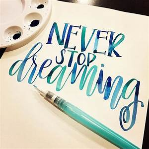 17 best ideas about calligraphy on pinterest With water brush lettering