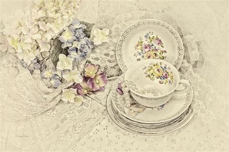 vintage tea time photograph  cheryl davis