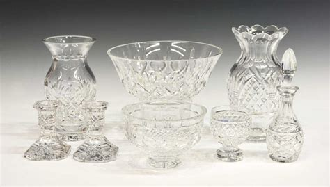 waterford crystal table ls 8 waterford cut crystal table items assorted august