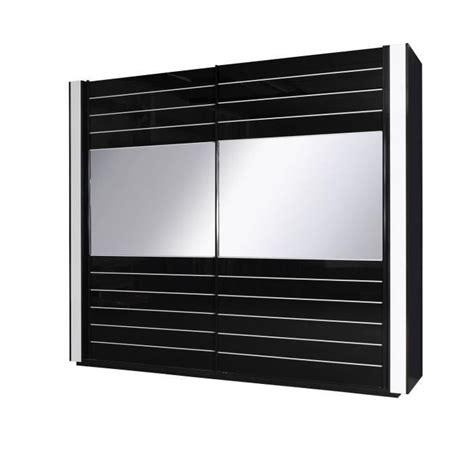 armoire lina noir et blanche laqu 233 e tout 233 quip 233 e meuble