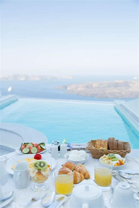 Santorini Breakfast With A View Greece Travel Guide