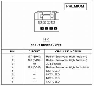 2005 Ford Escape Audio Pinout