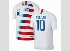 PULISIC 10 USA National Team Home Soccer Jersey 2018,USA