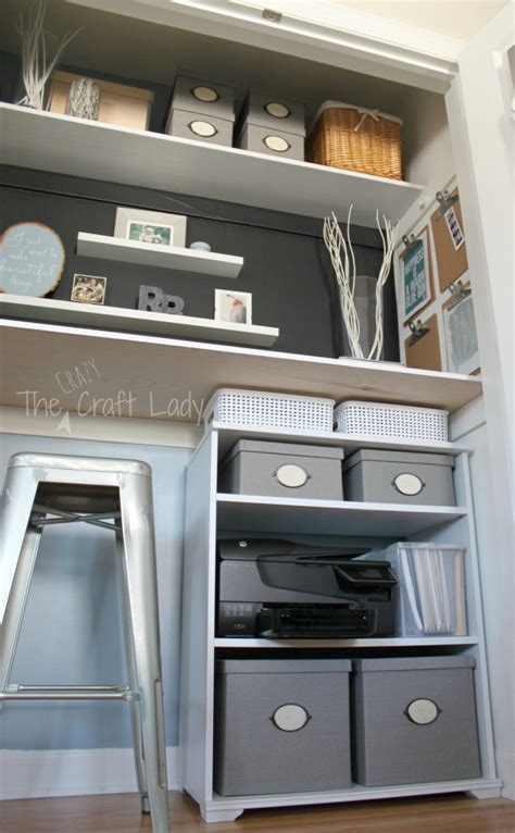 remodelaholic making  organized closet office craft space
