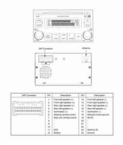 Audio Wiring  Color Diagram  Azera Tg 2007