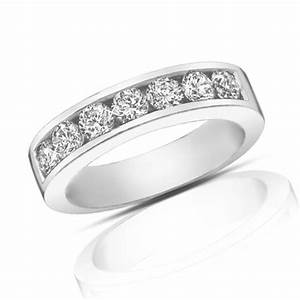 125 Ct Round Cut Diamond Wedding Band Ring In Channel Setting