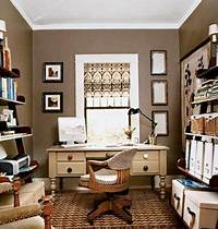home office colors dens/libraries/offices - Brown, Neutral, Home Office, aupe ...