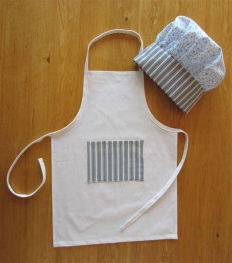 tablier et toque de cuisine set cuisine tablier et toque de cuisinier enfant coton en