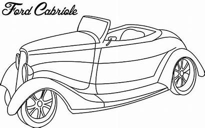 Coloring Ford Classic Cars Cabriole Truck Netart