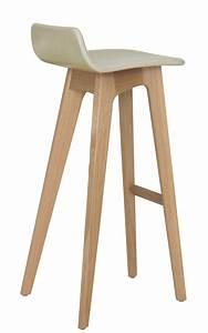 Tabouret 70 Cm : tabouret de bar morph assise cuir h 80 cm structure ch ne naturel rev tement cuir beige ~ Teatrodelosmanantiales.com Idées de Décoration