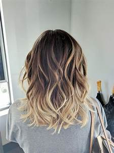 Trendy Hair Highlights Ombre Balayage Color Melt Blonde