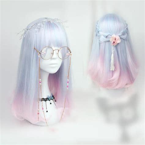 Pastel Blue Pink Mixed Wig Sp165379 Spreepicky