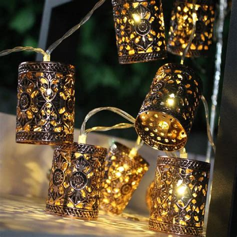 warm white 20 led lantern retro lantern string lights outdoor ebay