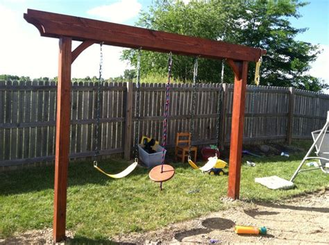 Pergola Design Ideas Pergola Swing Set Creative Design