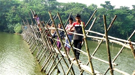People Of 15 Villages Use Only Bamboo Bridge  The Asian