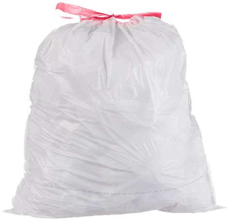 amazoncom plasticplace  gallon drawstring bags black