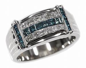 mens blue diamond rings wedding promise diamond With blue diamond mens wedding rings