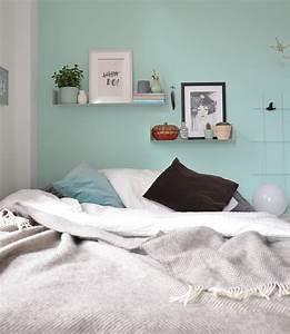 Wandfarbe Grau Schlafzimmer : wandfarbe mint im schlafzimmer annablogie ~ One.caynefoto.club Haus und Dekorationen