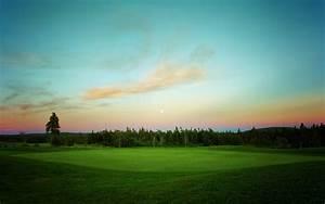 Beautiful Golf Course Nature HD Wallpaper