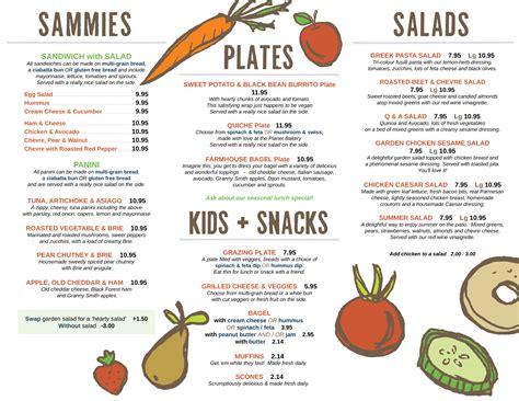 carte cuisine food menu silver bean cafe
