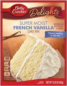 Betty Crocker Delights Super Moist French Vanilla Cake Mix ...