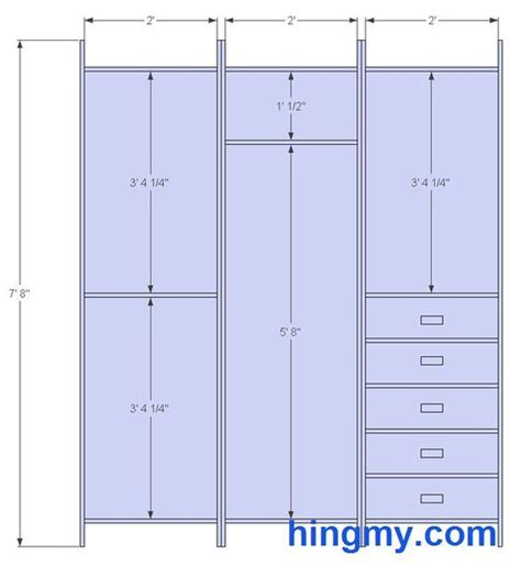 standard closet measurements this design is meant be as