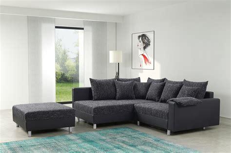modernes sofa couch ecksofa eckcouch  schwarz eckcouch