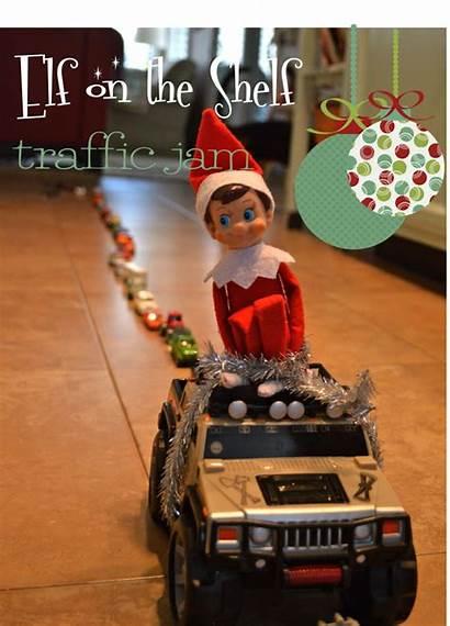 Elf Shelf Jam Traffic Sitting Around Cars