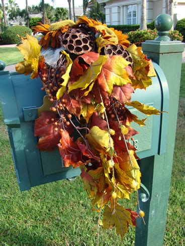 Start Your Fall Decor With A Mailbox Spray  Matt And Shari