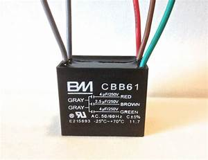 Ceiling Fan Capacitor Cbb61 4uf 2 5uf 4uf 5 Wire Ul Listed