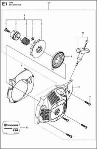 Husqvarna 236  967326401  Chainsaw Starter Spare Parts Diagram