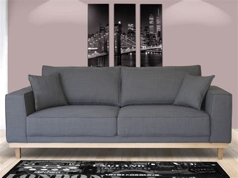 canapé gris 2 places canapé 2 ou 3 places en tissu lionel gris