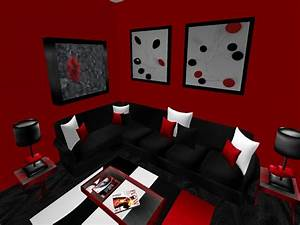 living room things to consider to combine black and red With black and red living room ideas