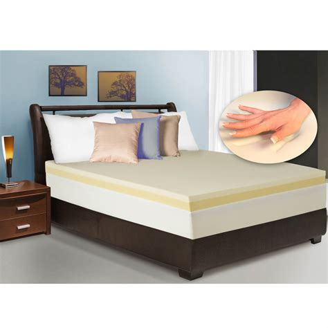 size mattress topper cradlesoft 4 quot dual layer memory foam size revitalizer
