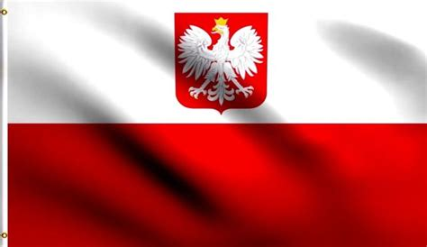 3x5 Old Poland Flag Polish Flags White Eagle Eu F154 For