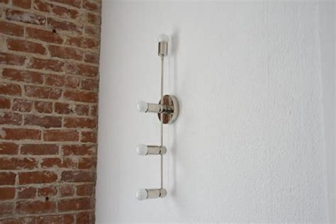 Vertical Bathroom Wall Sconces by Modern Wall Sconce Polished Nickel Mid Century