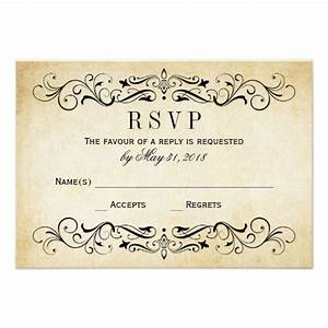 vintage wedding rsvp postcards elegant flourish invitations With wedding rsvp cards postcard style