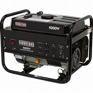 Ironton Portable Generator  U2014 4000 Surge Watts  3200 Rated